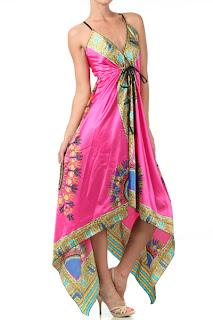 Bohemian pink dress