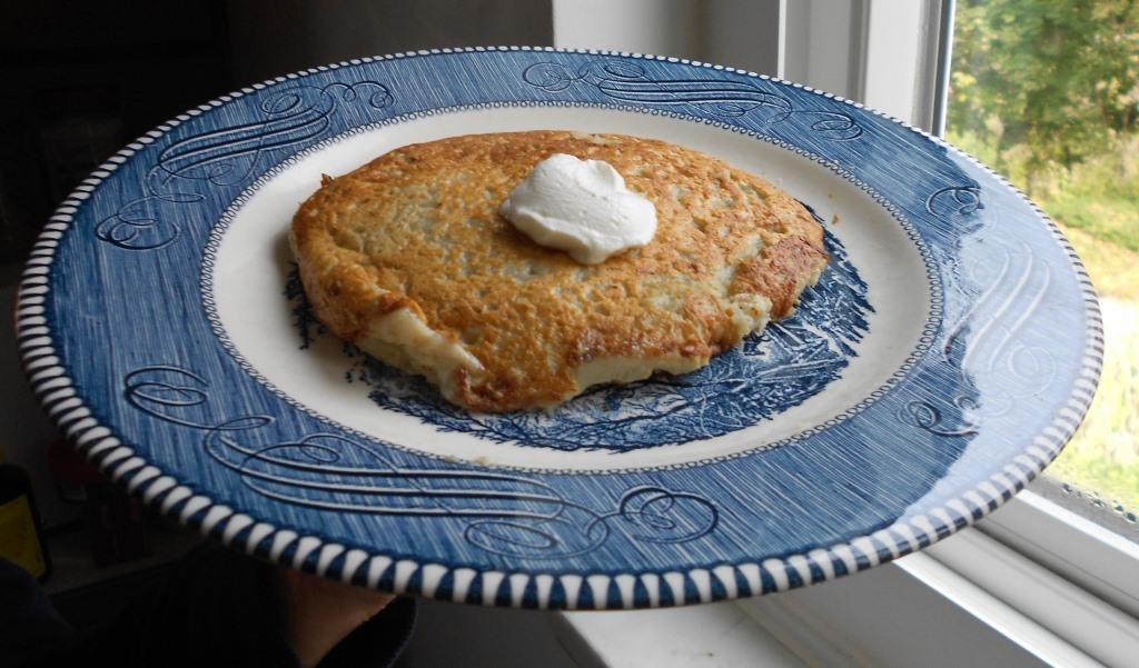 Old-World Style Potato Pancake on a Plate