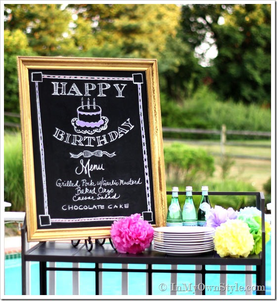 Creative Party Ideas By Cheryl: Chalkboard Drawing And Tips