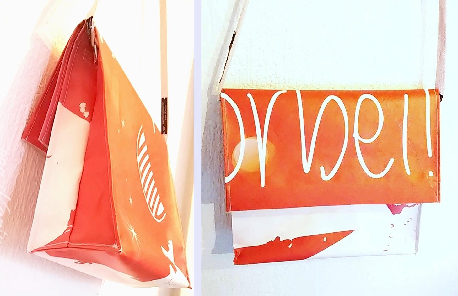 DIY ... alles vonKarin : Upcycling: vom Werbebanner zur Tasche