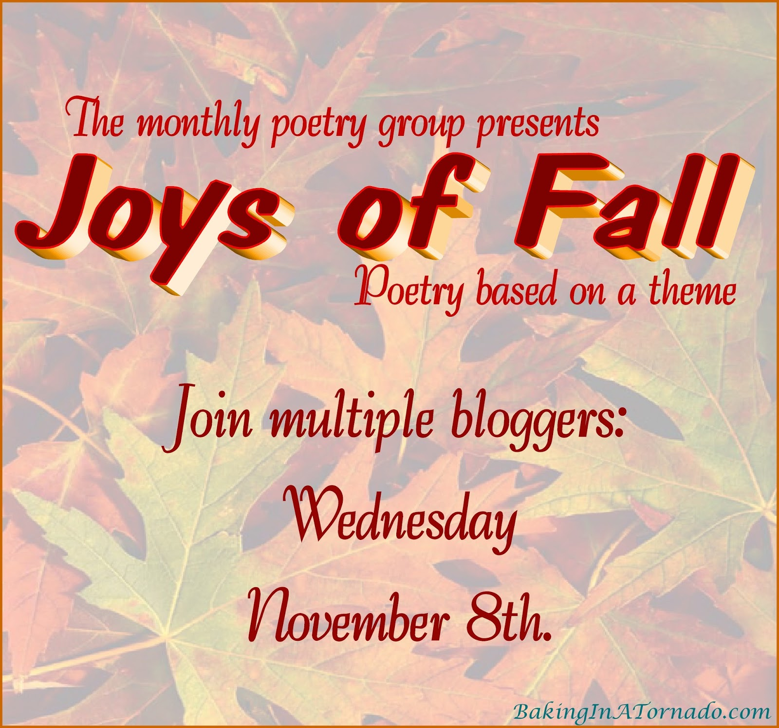 baking in a tornado the joys of fall november poetry