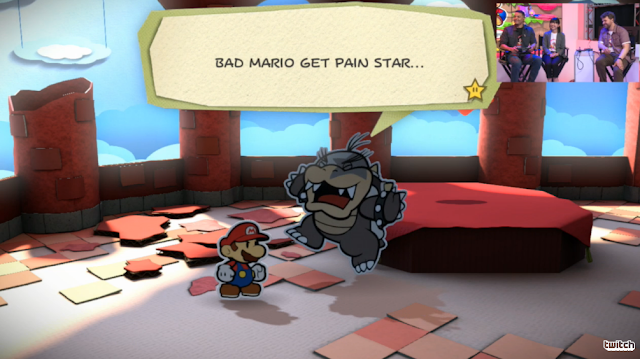 Paper Mario: Color Splash Morton Koopa Jr. defeated pain star