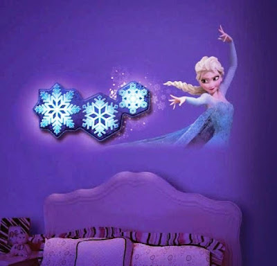 Desain Wallpaper Dinding Kamar Tidur Anak Frozen