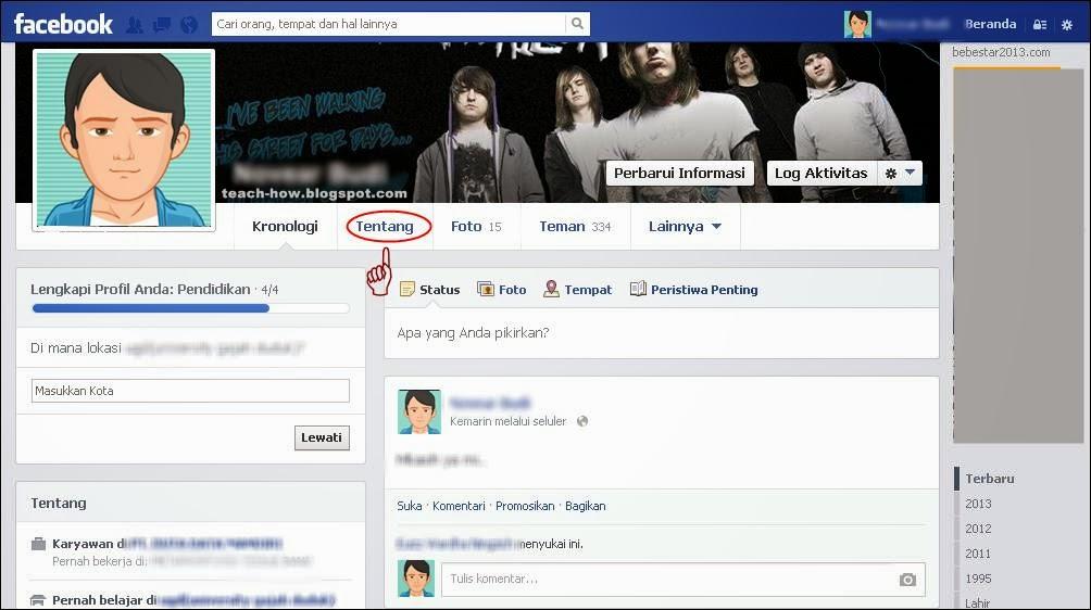 Merasa kurang nyaman dengan terlihatnya status hubungan di facebook yang sanggup dilihat ol Cara Menyembunyikan Status Hubungan Di Facebook