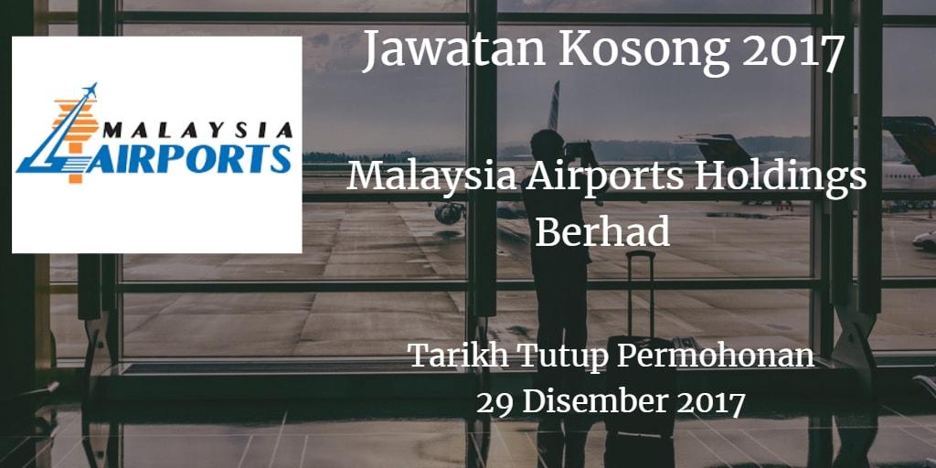 Jawatan Kosong MAHB 29 Disember 2017