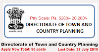 Directorate of Town and Country Planning Recruitment 2015