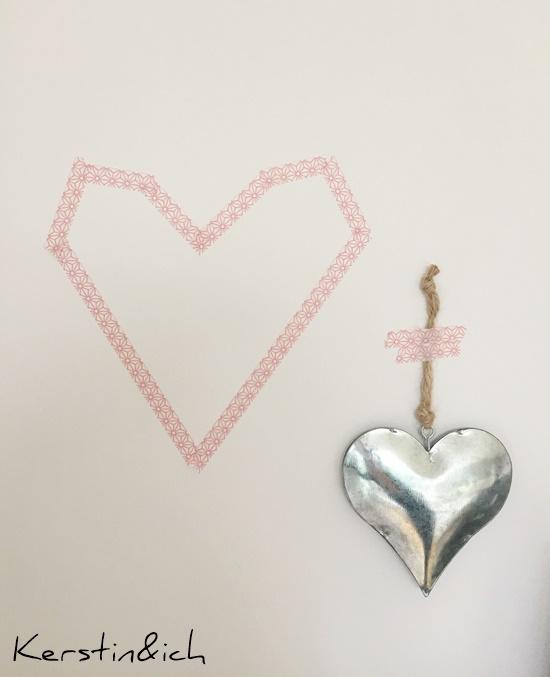 Wohnen Herzen Blech Maskingtape