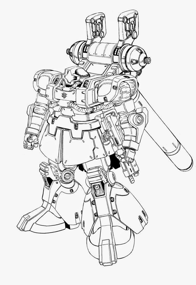 Gundam Thunderbolt Series Line Art Gundam Kits