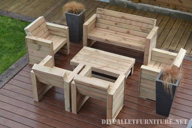 Muebles para la terraza con palets - Sillones para terrazas ...