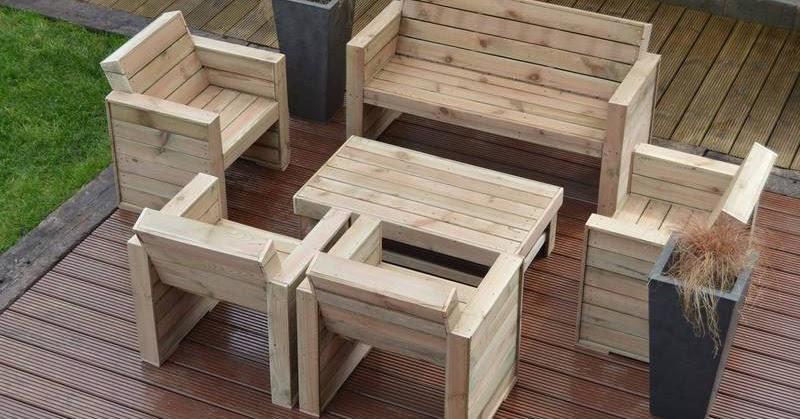 Muebles para la terraza con palets - Muebles terraza con palets ...