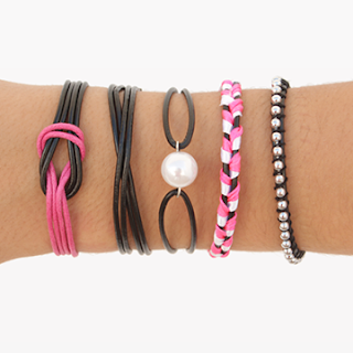5 DIY LEATHER BRACELETS