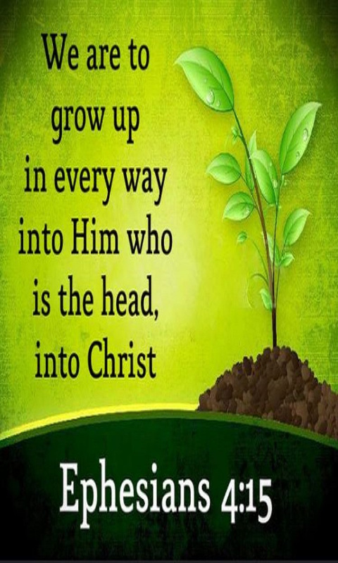 Instead, speaking the truth in love, we will grow to become in every respect the mature body of him who is the head, that is, Christ.