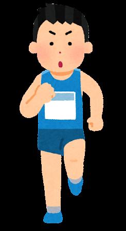 マラソン選手のイラスト(男性)