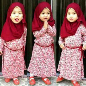 Baju Muslim Anak Perempuan Usia 3 Tahun