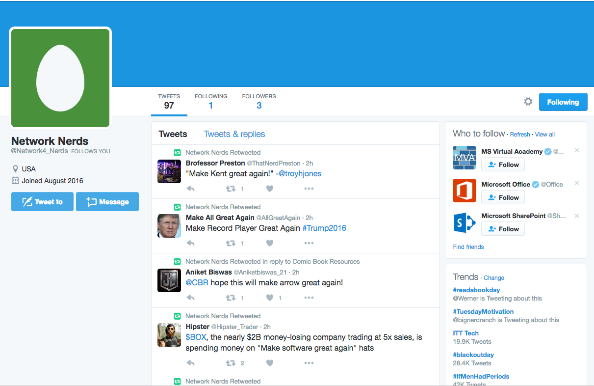 Network Automation Nerds: Make a Twitter Bot in Python and AWS Lambda