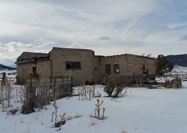 Abandoned Jail ruins in Ludlow Colorado Ghost Town