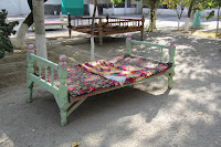 Uzbekistan, Andijan, Navoi Park Chaikhana, topchan, © L. Gigout, 2012