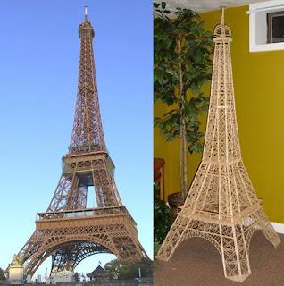 Torre Eifel con palillos de dientes.