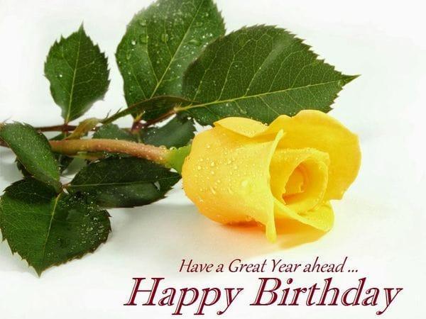 happy birthday cake and flowers image