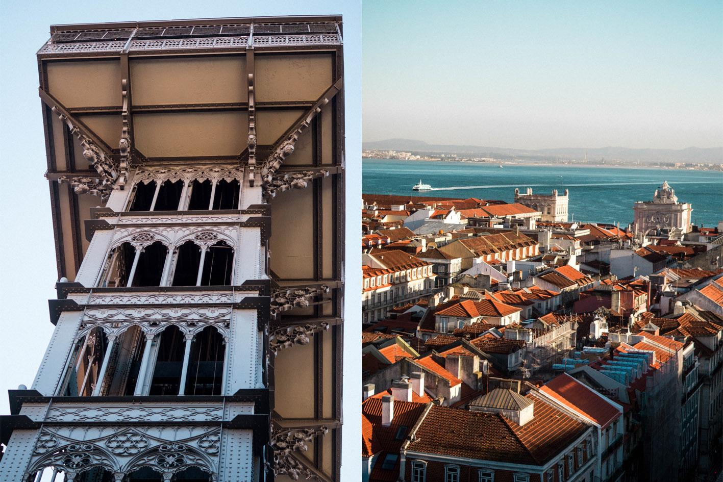 elevador santa justa Lisbonne