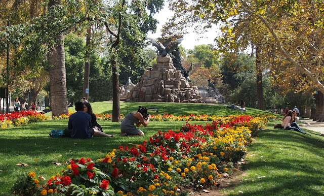 Parque Florestal em Santiago do Chile
