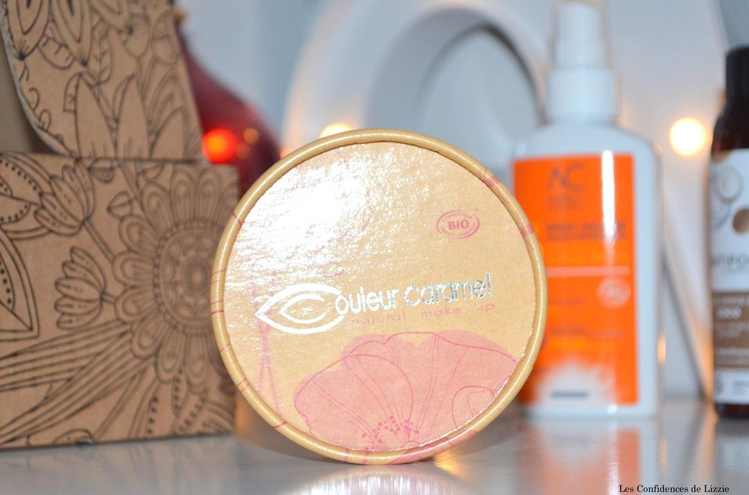 bio - beaute - beaute bio - box - box beaute - box beaute bio - couleur caramel - maquillage bio - blush bio - ombre a paupieres bio