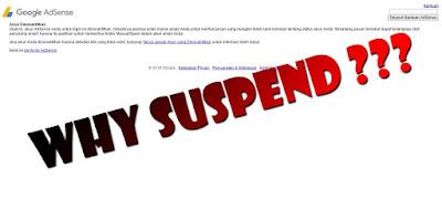 Harus Tahu! Penyebab Akun Adsense di Suspend/Banned oleh Google