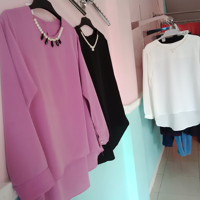 Model Blouse Polos Wanita Aksesoris Kalung Murah