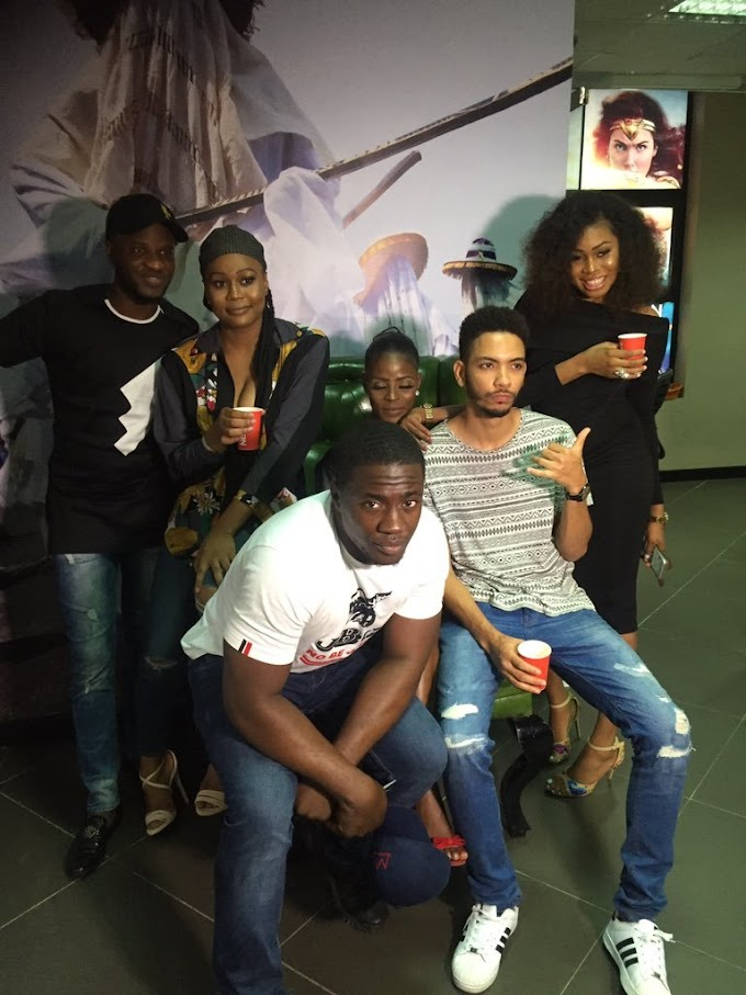 #BBNaija Group photo of evicted housemates in Lagos