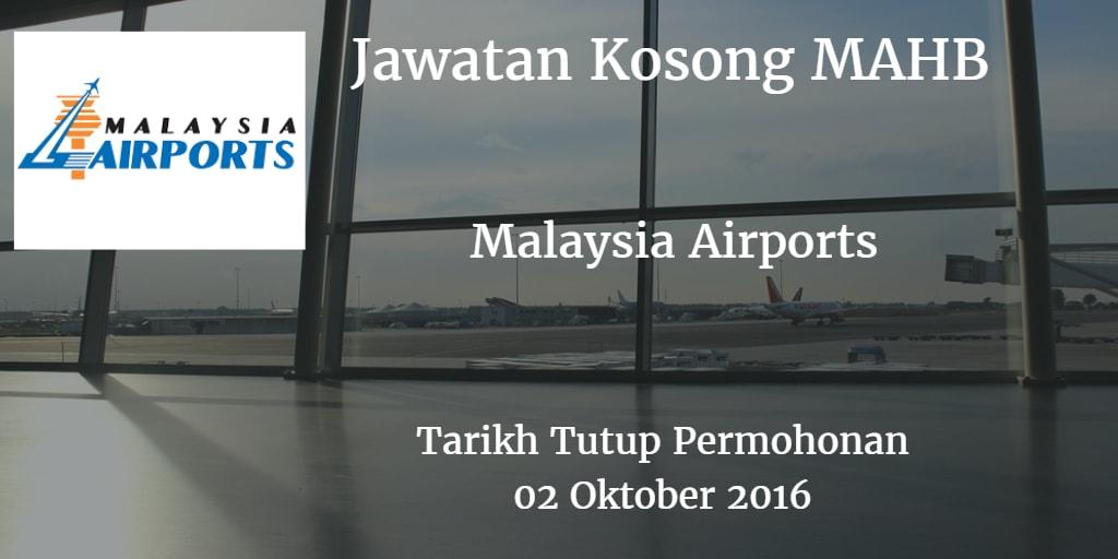 Jawatan Kosong MAHB 02 Oktober 2016