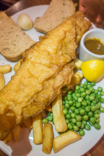 Fish and Chips at a London Pub