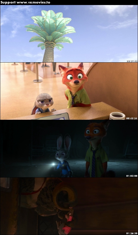 Zootopia 2016 Dual Audio ORG Hindi 720p BluRay 900mb