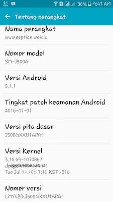 cara memunculkan developer option samsung j5