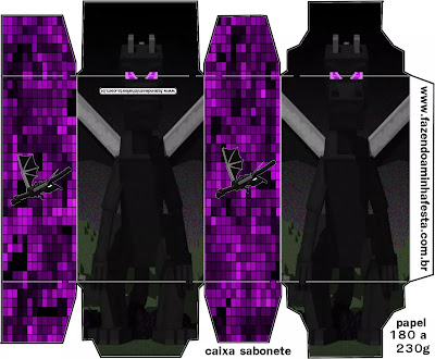 Ender Dragon Minecraft: Cajas para Imprimir Gratis.