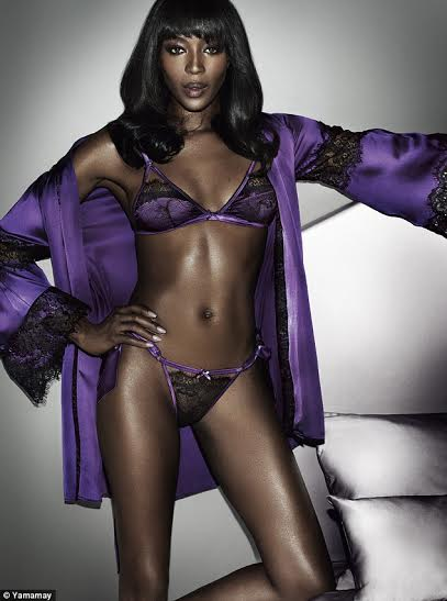 Naomi Campbell strips down to sexy lingeries to launch her new underwear range