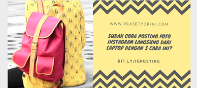 posting foto instagram dari laptop