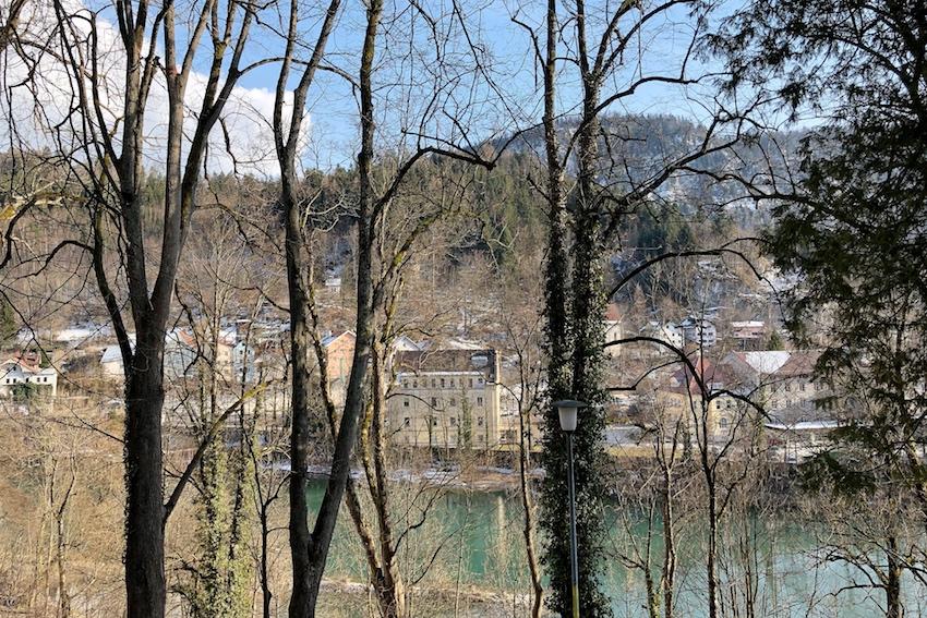 Schlosspark, Blick auf die Lech