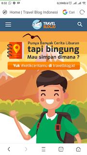 Tampang muka travelblogid