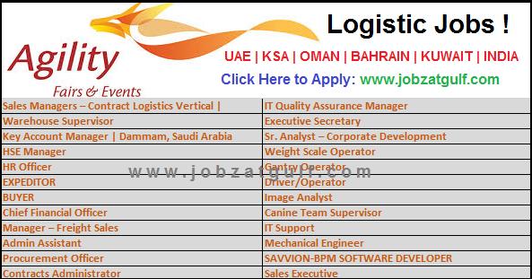 Logistic Jobs At Agility Uae Ksa Oman Bahrain