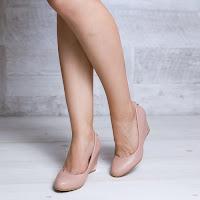 Pantofi dama Suzana roz cu talpa ortopedica • modlet