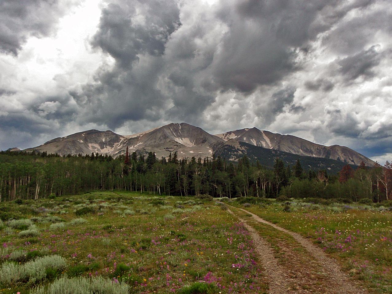 Mount Sopris in the Elk Range of Colorado