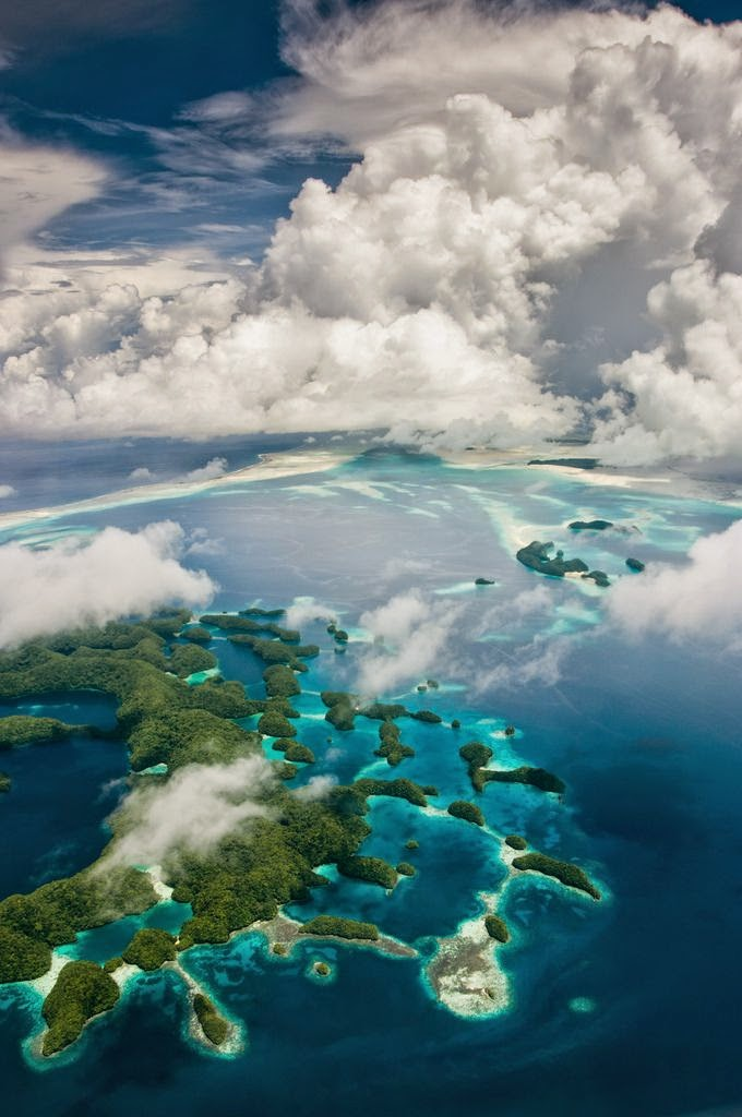 Best Places To Go Scuba Diving On Earth | Palau Rock Islands from the air