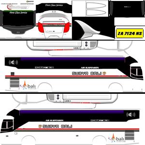Livery Bussid XHD New Surya Bali