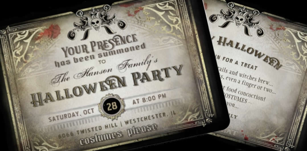 Gothic Halloween Party Your Presence Summoned Party Invitation