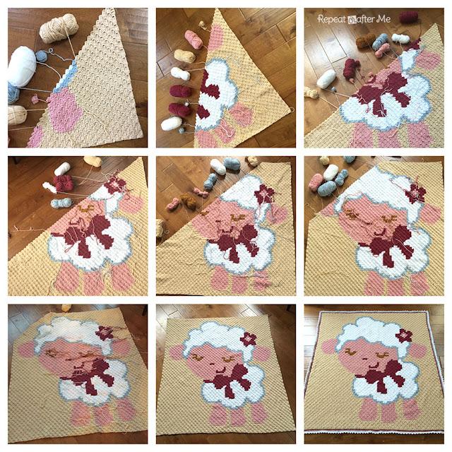 Corner To Corner.Magicbycrochet Crochet Corner To Corner C2c Baby Sheep Graphgan