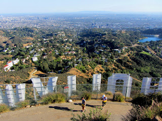 View south from Mt. Lee and the Hollywood Sign