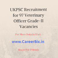UKPSC Recruitment for 97 Veterinary Officer Grade-II Vacancies