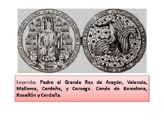Rey de Aragón, Valencia, Mallorca, Cerdeña y Córcega, Conde de Barcelona, Rosellón y Cerdaña.