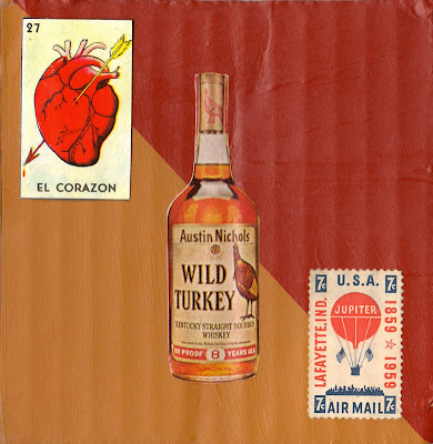 flag Lafayette, Indiana Jupiter baloon air mail stamp wild turkey bourbon whiskey 8 year 101 mexican loteria el corazon heart with arrow