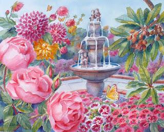 'The Children's Garden' custom watercolor painting